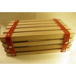 Caisse en bois à lanière