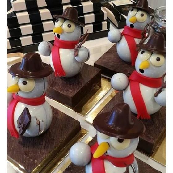 Bonhomme de neige tout chocolat