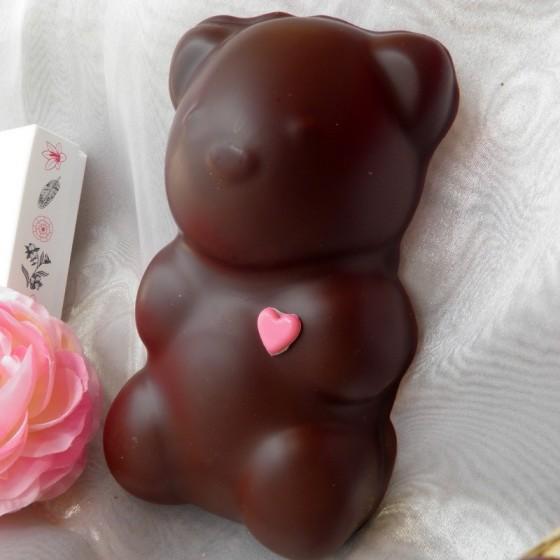 Ourson guimauve XL chocolat noir