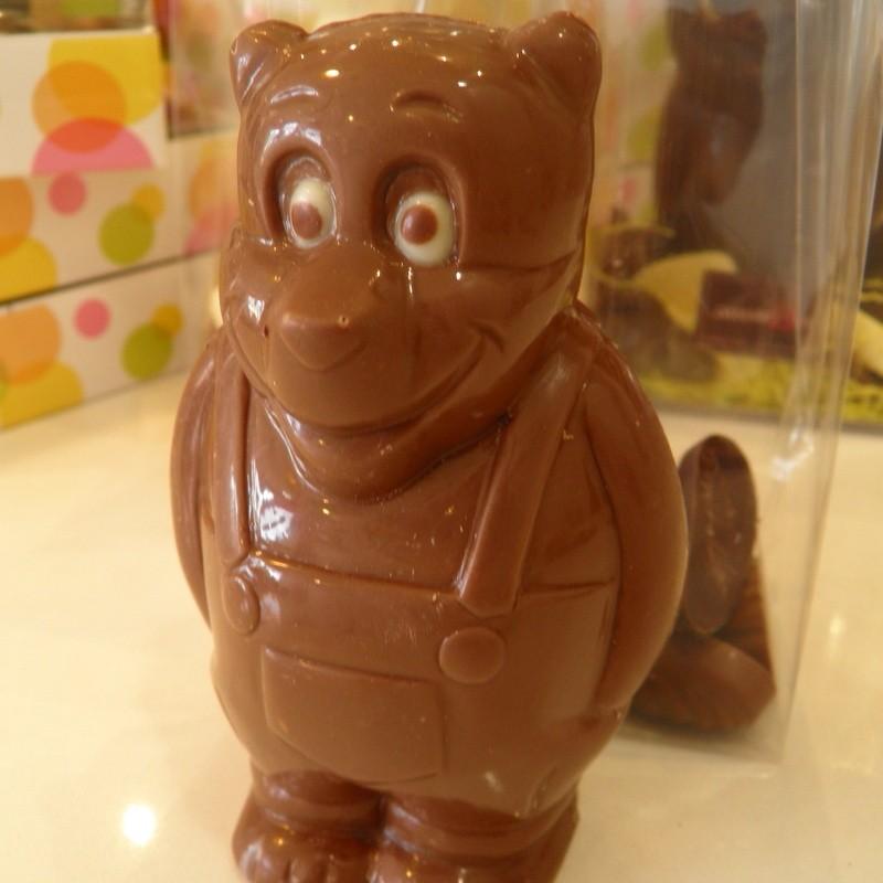 Ourson garni de friture en chocolat