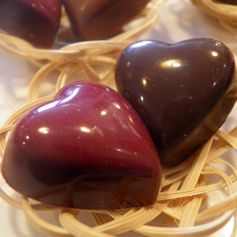 Mini panier de coeurs chocolat