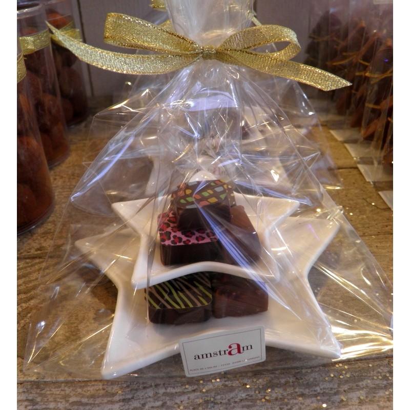 Etoiles porcelaine et chocolats