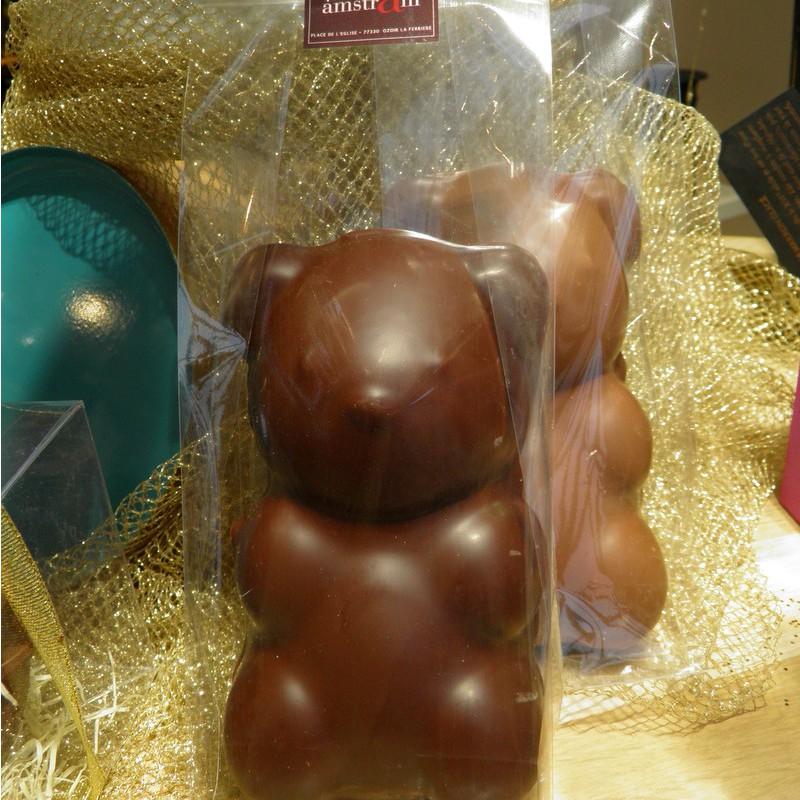 Ourson guimauve XL chocolat au lait